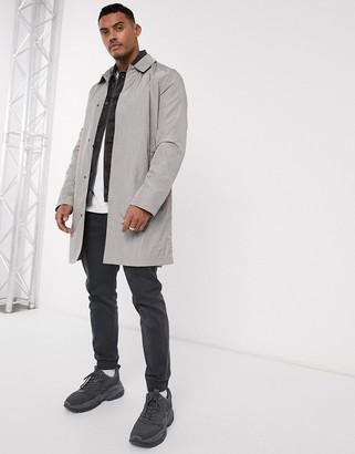 Asos DESIGN lightweight trench coat in light gray