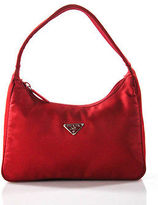 Prada Red Nylon Small Hobo Handbag