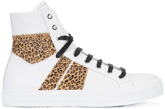 Amiri Leopard Sunset high-top sneakers