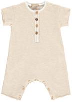 Sale - Marl Jumpsuit with Buttons - De Cavana