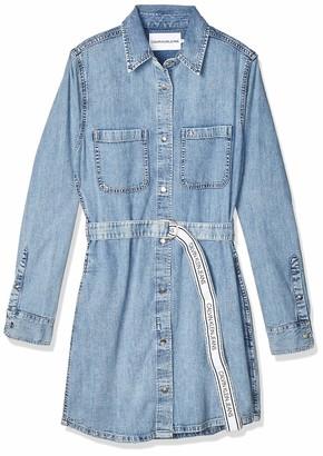 Calvin Klein Jeans Women's Relaxed Shirt Dress Belt