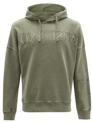 Stone Island Logo-embroidered Cotton Hooded Sweatshirt - Mens - Green