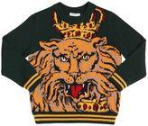 Dolce & Gabbana Lion Virgin Wool Sweater