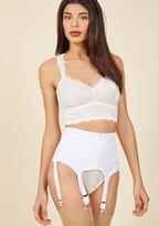 Sassiest Support Contouring Garter Belt in White in XL
