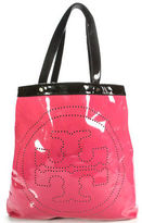 Tory Burch Pink Plastic Tote Handbag Size Large