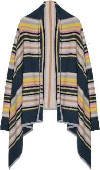 Engage engage - Mulitcolor Stripes Cashmere Cardigan - cashmere | M/L - Blue/Orange/White