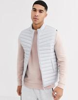 Asos Design DESIGN puffer vest in gray