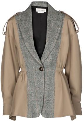 Alexander McQueen Gabardine and stretch-wool jacket