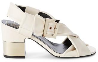 Roger Vivier Soft Strap Leather Sandals