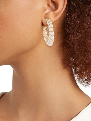 Gas Bijoux Cyclade Chain-Wrapped Acetate Hoop Earrings