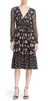 Kate Spade Women's Ditsy Print Silk Midi Dress