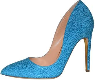 Rupert Sanderson Blue Leather Heels