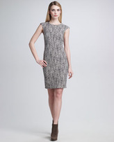 Piazza Sempione Printed Jacquard Sheath Dress