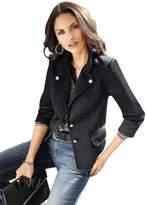 Creation L Faux Leather Trim Jersey Jacket