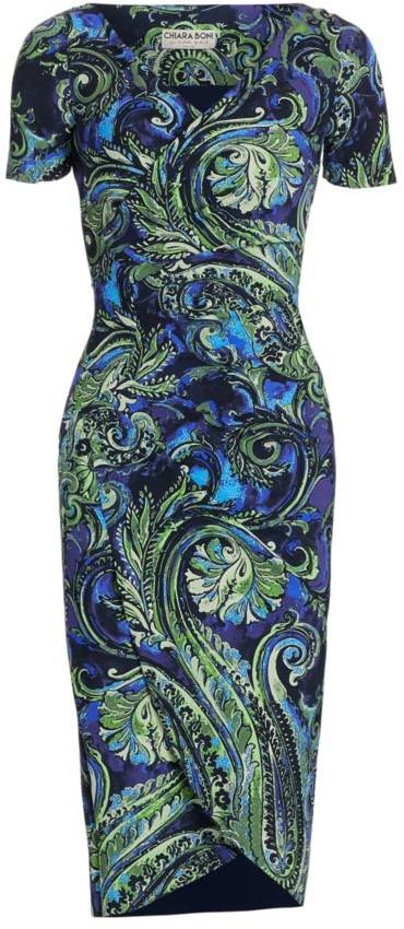 Chiara Boni Ajak Paisley Sheath Dress