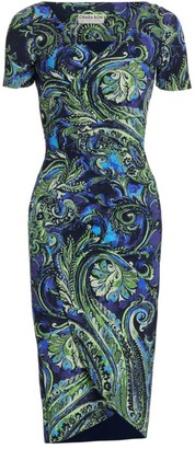 Chiara Boni Ajak Paisley Sheath Dress
