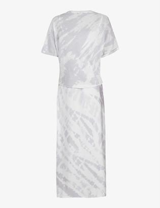 AllSaints Lavender 2-in-1 tie-dye cotton midi dressx