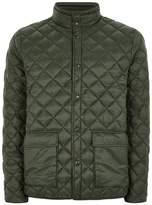 Topman Khaki Diamond Puffer Jacket