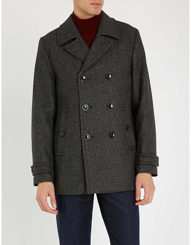 Ted Baker Grilld double-breasted wool-blend coat