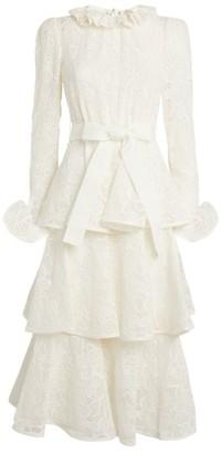 Zimmermann Lovestruck Lace Midi Dress
