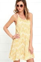 O'Neill Sia Yellow Print Swing Dress