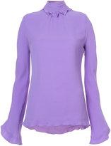 Derek Lam ruffle high neck blouse