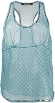 Roberto Cavalli sheer polka dot tank top