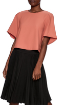 Alythea Salmon Cropped Blouse