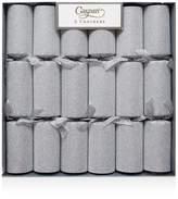 Caspari Silver Glitter Crackers, Box of 6