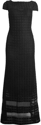 St. John Addison Sequin Knit A-Line Gown
