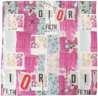 Christian Dior Logo Print Two Scarf Set