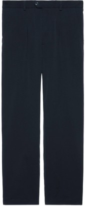 Gucci Cotton pant with Interlocking G patch
