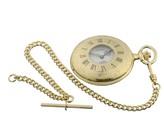 Jean Pierre gold-plated Half Hunter mechanical watch