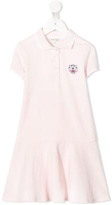 Kenzo Tiger Patch Polo Dress