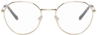 Dolce & Gabbana Gold Metal Round Glasses