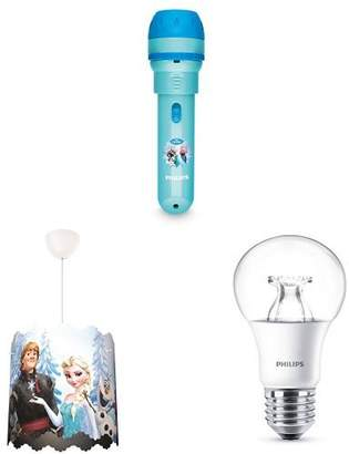 Philips Disney Frozen Children's Projector Torch and Night Light Integrated LED with Ceiling Pendant Lightshade