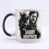 2buymore Mug Daryl Dixon the Walking Dead Morphing Mug Heat Sensitive Color Changing 100% Ceramic Coffee/Tea Cup Morphing Mugs