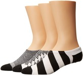 Converse Chucks Americana Pattern Mix 3-Pair Pack Men's No Show Socks Shoes