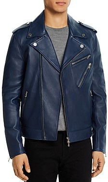 7 For All Mankind Nappa Leather Regular Fit Jacket
