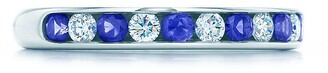 Tiffany & Co. Channel-set band ring Diamonds, sapphires, platinum 3mm