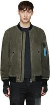 Diesel Khaki W-Kittene Bomber Jacket