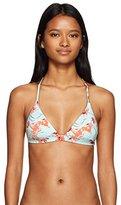 Roxy Women's Printed Strappy Love Reversible Fixed Triangle Bikini Top