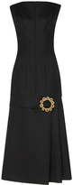 Jacquemus Embellished Dropped Waist Wool Dress