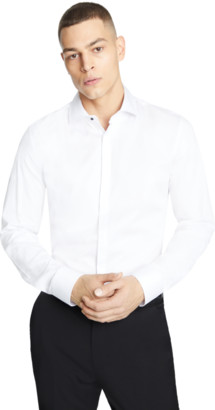 yd. White Modena Slim Dress Shirt