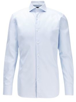 Slim-fit shirt in anti-wrinkle cotton