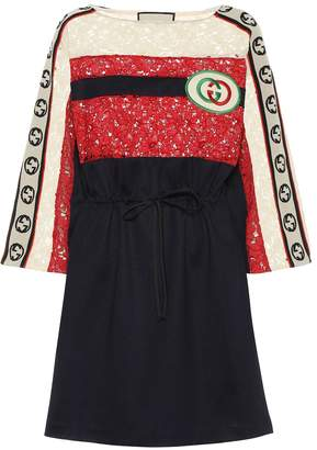 Gucci Cotton-blend lace minidress