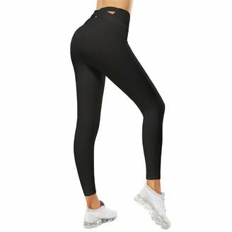 SotRong Cross Bandage High Waist Yoga Pants Butt Lift Anti Cellulite Gym Leggings for Women Slim Fit Sports Running Tights Black XXL