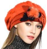 JESSE · RENA Woen Wool French Beret Cloche Chic Angola Beanie Skull Cap Winter Hats