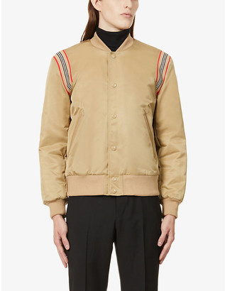 Burberry Check-print shell bomber jacket