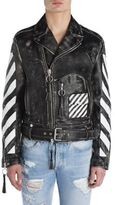 Off-White Colorblock Leather Jacket